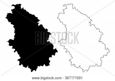 Haute-marne Department (france, French Republic, Grand Est Region) Map Vector Illustration, Scribble