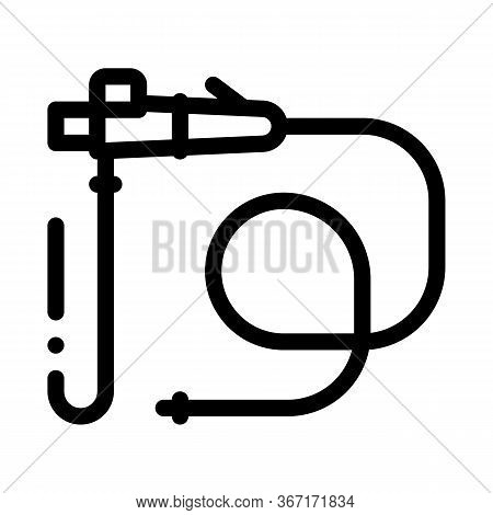 Intestinal Diagnostic Tube Icon Vector. Intestinal Diagnostic Tube Sign. Isolated Contour Symbol Ill