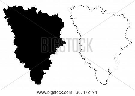 Yvelines Department (france, French Republic, Ile-de-france Region) Map Vector Illustration, Scribbl