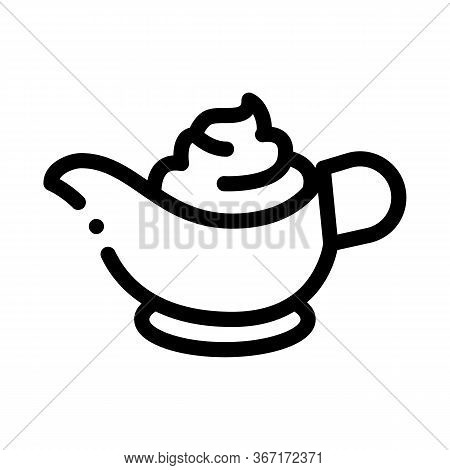 Sauce Bowl Mayonnaise Icon Vector. Sauce Bowl Mayonnaise Sign. Isolated Contour Symbol Illustration