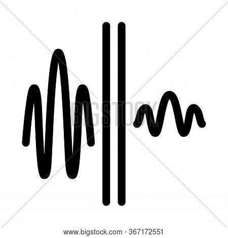 Sound And Silence Icon Vector. Sound And Silence Sign. Isolated Contour Symbol Illustration