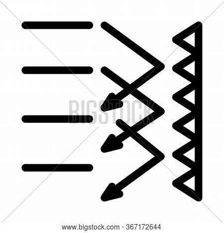 Sound Obstacle Icon Vector. Sound Obstacle Sign. Isolated Contour Symbol Illustration