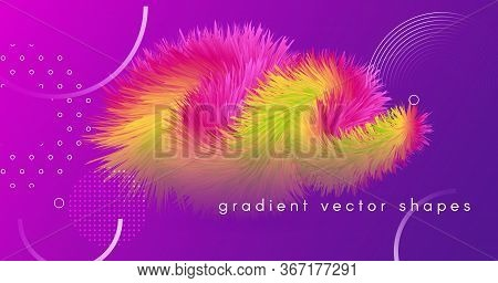 Vibrant Design. Neon Abstract Motion. Graphic Concept. Liquid Bright Vibrant Design. Geometric Wave