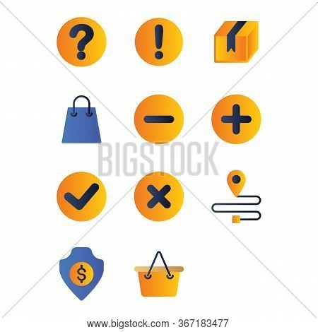 Marketplace Icon Set Include Reputation, Bad,question, Help, Marketplace, Information, Market, Box,