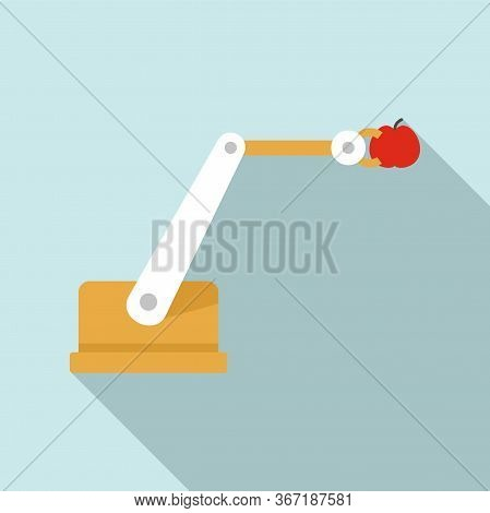 Farm Robotic Smart Arm Icon. Flat Illustration Of Farm Robotic Smart Arm Vector Icon For Web Design
