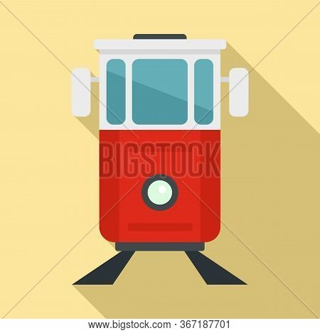 Turkish Tramway Icon. Flat Illustration Of Turkish Tramway Vector Icon For Web Design
