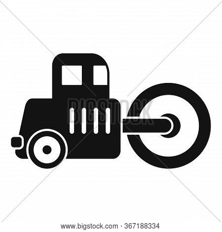 Road Roller Icon. Simple Illustration Of Road Roller Vector Icon For Web Design Isolated On White Ba