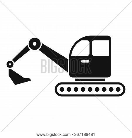 Excavator Icon. Simple Illustration Of Excavator Vector Icon For Web Design Isolated On White Backgr