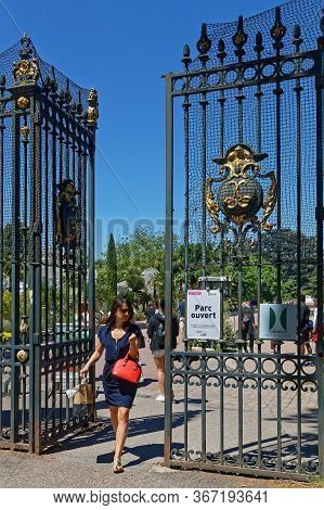 Lyon, France, May 19, 2020 : Park Reopens After Two Months Of Confinement. Travel Ban In France, Pop