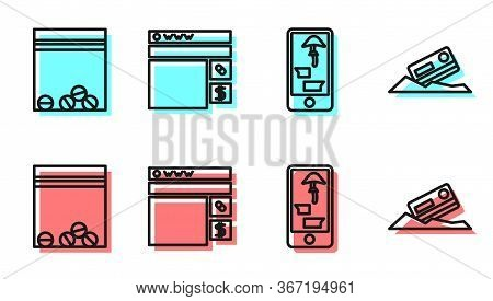 Set Line Buying Drugs Online On Phone, Plastic Bag Of Drug, Buying Drugs Online And Cocaine And Cred