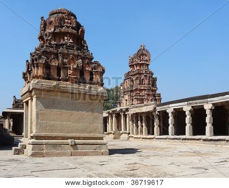 Krishna Temple at Hemakuta Hill a part of the Sacred Center of Vijayanagara around Hampi a city located in Karnataka South West India poster