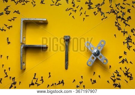 Fix Word Made Of Different Construction Fasteners