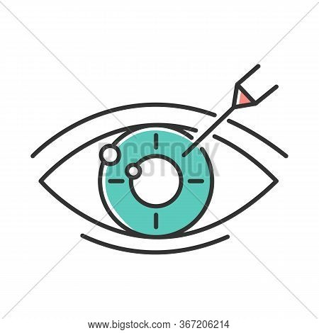 Vision Correction Color Icon. Medical Surgical Procedure. Health Care. Astigmatism Treatment. Ophtha