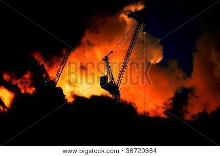 Construction Site 3 - Sillhouette