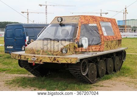 Moscow, Russia - July 6, 2012: Handmade Tracked Vehicle Presented At The Annual Motorshow Autoexotic