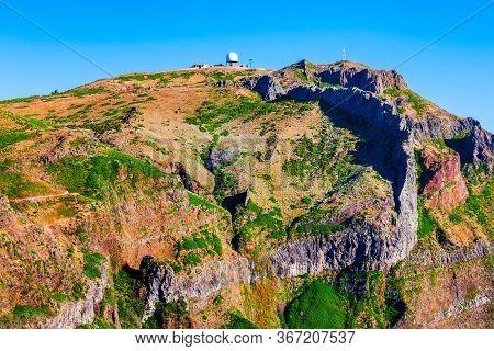 Pico Do Arieiro Is A Third Highest Peak Of Madeira Island In Portugal