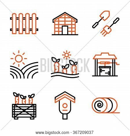 Agriculture Icon Set Including Fence, Barrier, Picket, Wooden, Glass House, Building, Hydroponic, Fa