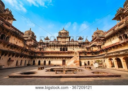 Jahangir Palace Or Jehangir Mahal Is A Citadel And Garrison Located In Orchha City In Madhya Pradesh