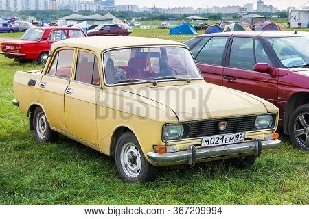 Moscow, Russia - July 6, 2012: Soviet Saloon Car Moskvitch 2140 Presented At The Annual Motorshow Au