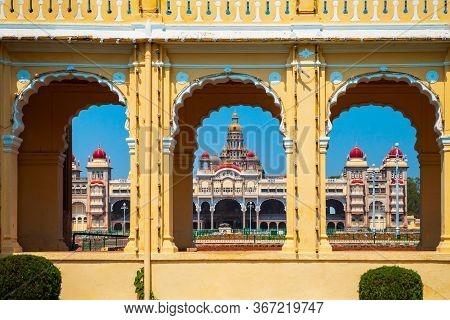 Mysore Palace Is A Historical Palace And A Royal Residence At Mysore In India