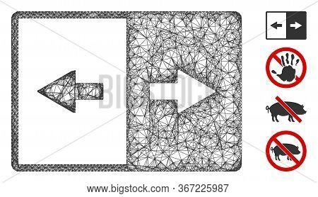 Mesh Invert Web Icon Vector Illustration. Carcass Model Is Based On Invert Flat Icon. Network Forms