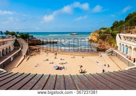 Plage Du Port Vieux Is A Public Beach In Biarritz City On The Bay Of Biscay On The Atlantic Coast In