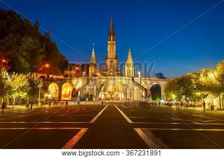 Sanctuary Of Our Lady Of Lourdes Is A Roman Catholic Church In Lourdes Town In France