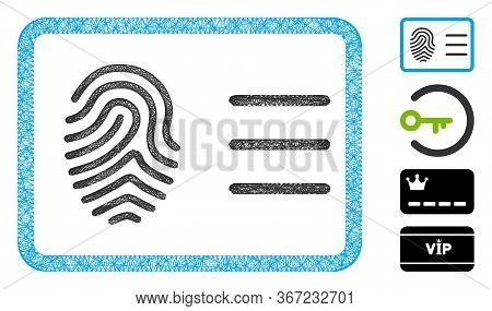 Mesh Biometric Account Web Symbol Vector Illustration. Carcass Model Is Based On Biometric Account F