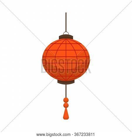 Chinese Festival Lanterns. China Street Asian Chinatown Wedding Paper Lanterns Vector Cartoon Symbol