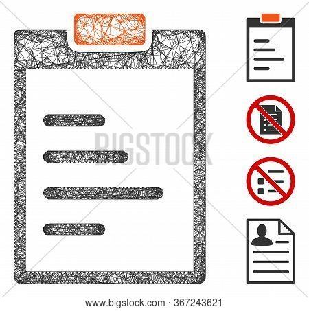 Mesh Pad Text Web Icon Vector Illustration. Abstraction Is Based On Pad Text Flat Icon. Mesh Forms A