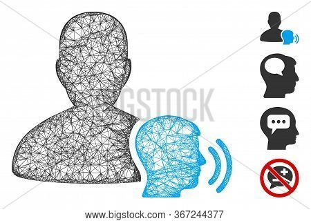 Mesh Medium Web Symbol Vector Illustration. Carcass Model Is Based On Medium Flat Icon. Network Form