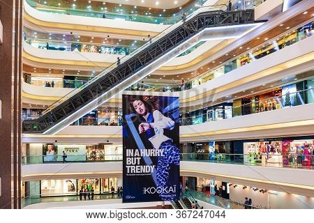 Hong Kong - March 19, 2013: Times Square Shopping Mall Interior. Times Square Is A Shopping Centre A