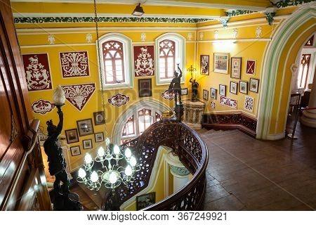 Bangalore, India - March 28, 2012: Bangalore Palace Is A British Style Palace Located In Bangalore C