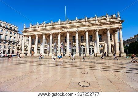 Bordeaux, France - September 17, 2018: Grand Theatre De Bordeaux Is A Main Theatre In The Centre Of