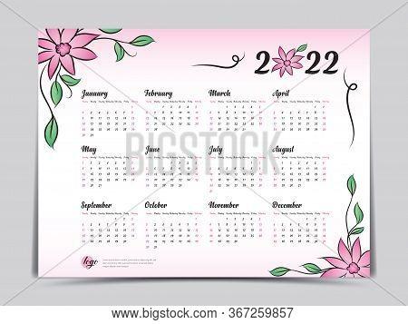 2022 Calendar With Weeks.Calendar 2022 Vector Vector Photo Free Trial Bigstock