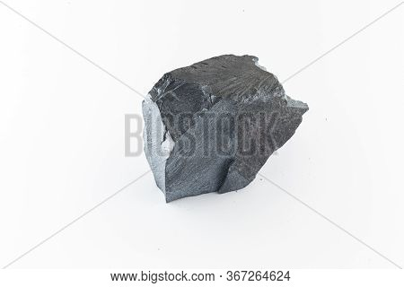 Iron Ore Nugget, Hematite Or Specularite, Stone Used In Industry Or Decorative. Gray, Magnetic Stone