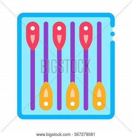 Medicine Therapy Needles Icon Vector. Medicine Therapy Needles Sign. Color Symbol Illustration