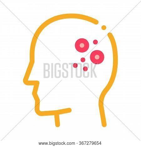 Main Problem Of Dermatitis Icon Vector. Main Problem Of Dermatitis Sign. Color Symbol Illustration