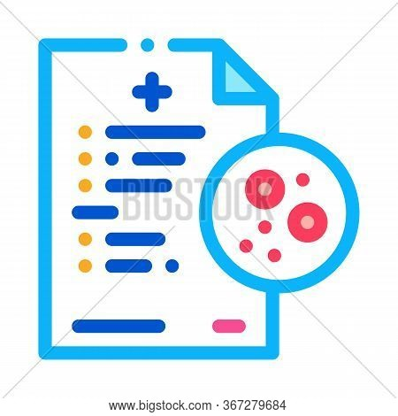 Written Report On Skin Problems Icon Vector. Written Report On Skin Problems Sign. Color Symbol Illu