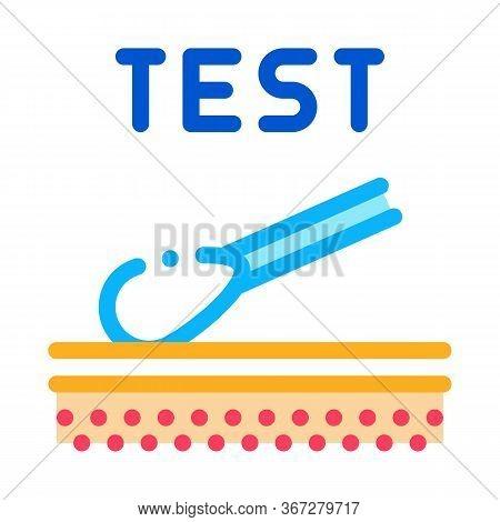 Skin Dermatitis Test Icon Vector. Skin Dermatitis Test Sign. Color Symbol Illustration