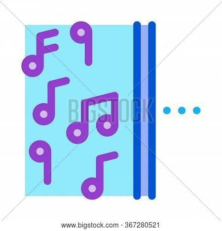 One Side Of Music Other Half Silence Icon Vector. One Side Of Music Other Half Silence Sign. Color S