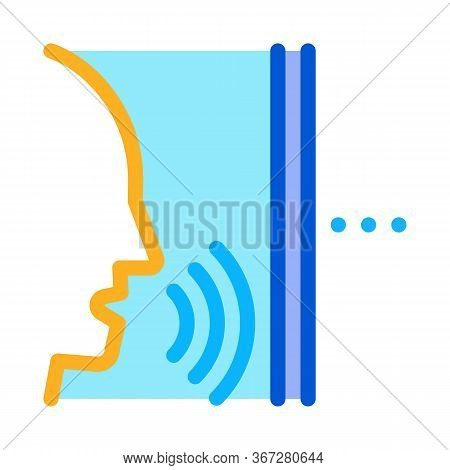 Sound Coming From Person Icon Vector. Sound Coming From Person Sign. Color Symbol Illustration