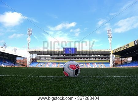 London, England - August 31, 2019: General View Of The Venue And The Official Match Ball Seen Ahead