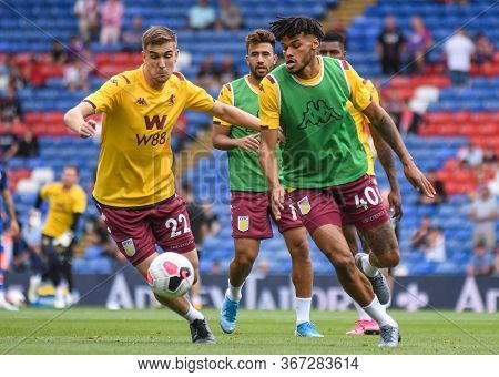 London, England - August 31, 2019: Bjorn Engles Of Villa (l) And Tyrone Mings Of Villa (r) Pictured
