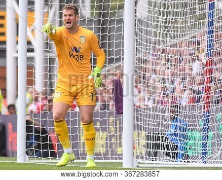 London, England - August 31, 2019: Tom Heaton Of Villa Pictured During The 2019/20 Premier League Ga