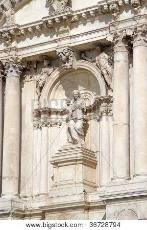 Sculpture On A Facade Of An Building