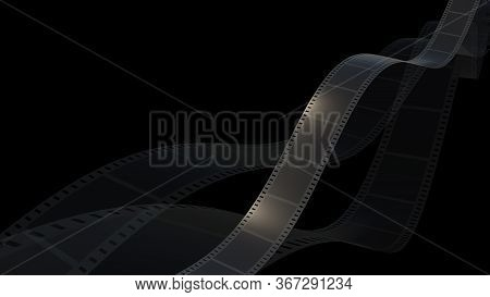 3D Rendering Of Film Strip Isolated With Black