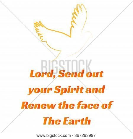 Pentecost Sunday Quote Design, Typography For Print Or Use As Poster, Card, Flyer Or T Shirt