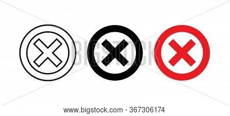Not Allowed Sign Icon Vector. Stop Symbol Images