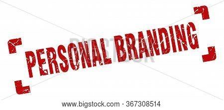 Personal Branding Stamp. Personal Branding Square Grunge Sign. Personal Branding